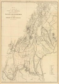 U.S. Geological Survey - Map of portions of Utah and Arizona, 1879