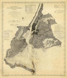 United States Coast Survey - Coast Chart No. 20 New York Bay and Harbor, New York, 1866