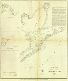 United States Coast Survey - Galveston Bay, Texas, 1852