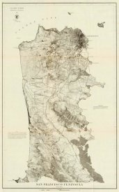 United States Coast Survey - San Francisco Peninsula, 1869