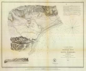 United States Coast Survey - Santa Barbara, California, 1853