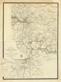 United States War Department - Civil War Map Showing the Operations of the Armies against Richmond and Petersburg, 1865