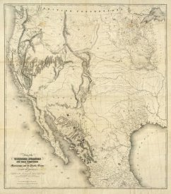 United States War Department - Map of The United States, 1850