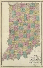 Alfred Theodore Andreas - New sectional and township map of Indiana, 1876