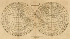 Aaron Arrowsmith - The World, 1812