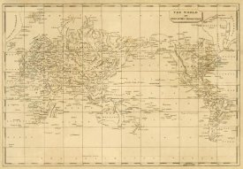 Aaron Arrowsmith - World Mercator's projection, 1812