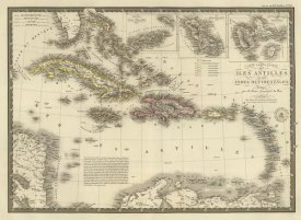 Adrien Hubert Brue - Iles Antilles ou des Indes Occidentales, 1828