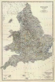 Alexander Keith Johnston - Composite: England, Wales, 1861