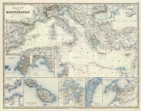 Alexander Keith Johnston - Mediterranean Basin, 1861