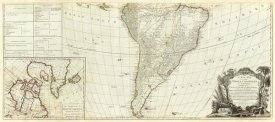 Robert Sayer - A new map of the whole continent of America (southern section), 1786