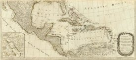 Thomas Pownall - A new map of North America, with the West India Islands (Southern section), 1786