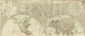 Samuel Dunn - A general map of the world or terraqueous globe, 1787