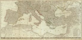Thomas Kitchin - Europe divided into its empires, kingdoms, states, republics (Southern States), 1787