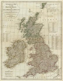 Thomas Kitchin - A complete map of the British Isles, 1788