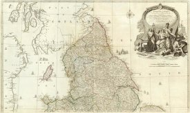 John Rocque - England and Wales (Northern section), 1790