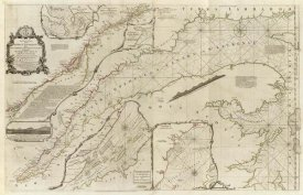 Thomas Jefferys - An exact chart of the River St. Laurence, 1775