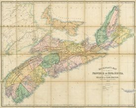 A. and W. Mackinlay - Mackinlay's map of the Province of Nova Scotia, including the island of Cape Breton, 1862