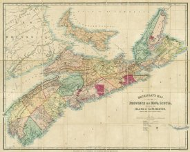 A. and W. Mackinlay - Mackinlay's map of the Province of Nova Scotia, including the island of Cape Breton, 1868