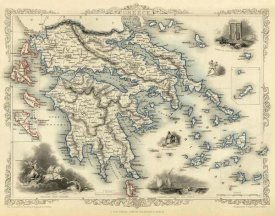 R.M. Martin - Greece with inset maps of Corfu and Stampalia, 1851