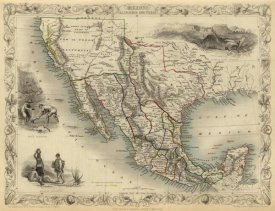 R.M. Martin - Mexico, California and Texas, 1851