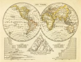 Jedidiah Morse - The World, 1828