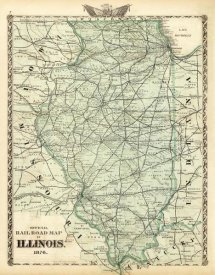 Warner and Beers - Official railroad map of the State of Illinois, 1876