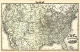 Warner and Beers - New railroad map of the United States and Dominion of Canada, 1876