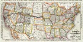 Union Pacific Railroad Company - New map of the American Overland Route, 1879
