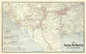 Santa Fe Railroad Company - Sante Fe Route and connections, 1888