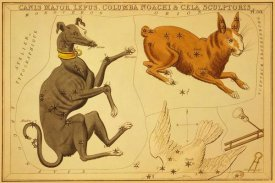 Jehoshaphat Aspin - Canis Major, Lepus, Columba Noachi & Cela Sculptoris, 1825