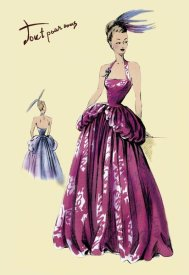 Unknown - Magenta Evening Gown, 1947