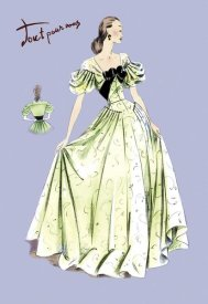 Unknown - Pleated Lime Gown, 1947