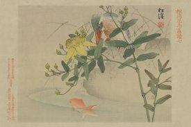 Unknown - Kingfisher and Goldfish in Pond