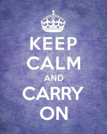 The British Ministry of Information - Keep Calm and Carry On - Vintage Purple