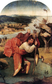 Hieronymus Bosch - St Christopher Carrying The Christ Child