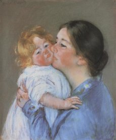 Mary Cassatt - A Kiss For Baby Anne 1897