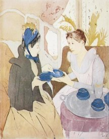 Mary Cassatt - Afternoon Tea Party 1891 (2)