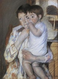 Mary Cassatt - Baby In His Mother Arms 1889