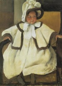 Mary Cassatt - Ellen Mary In A White Coat 1896