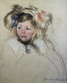 Mary Cassatt - Head Of Sara In A Bonnet Looking To The Left 1901