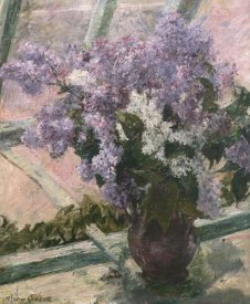 Mary Cassatt - Lilacs In A Window 1880