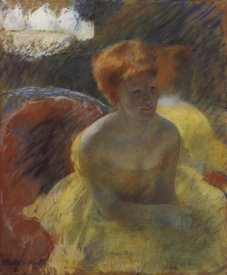 Mary Cassatt - Lydia Leaning On Her Arms Seated In A Loge 1879