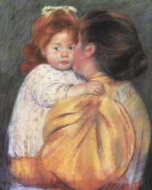 Mary Cassatt - Maternal Kiss 1897