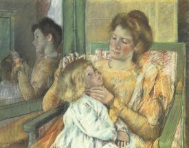 Mary Cassatt - Mother Combing Her Childs Hair 1898