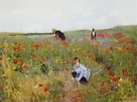 Mary Cassatt - Poppies In A Field 1880