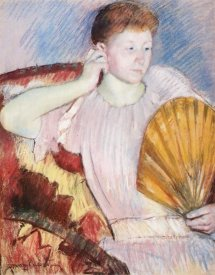 Mary Cassatt - Portrait Of A Woman With A Fan