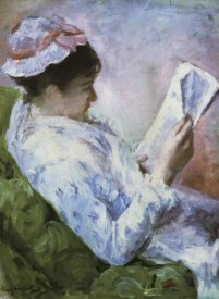 Mary Cassatt - Portrait Of Lydia Reading 1879