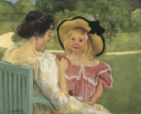 Mary Cassatt - Simone And Her Mother In The Garden 1904