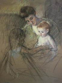 Mary Cassatt - Sketch For Mother And Daughter Looking At The Baby 1905
