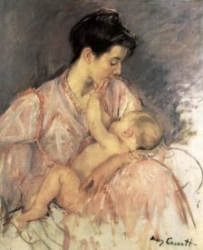 Mary Cassatt - Sketch For Mother Jeanne Nursing Her Baby 1906